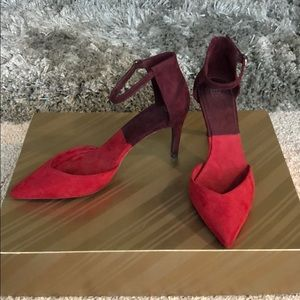 Zara suede 2.5in strap heels